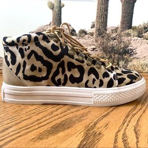 Band of Gypsies Dove Leopard High Top Sneaker 6.5